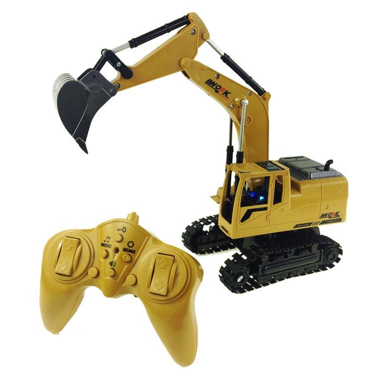 奥海8遥控挖掘机工程车无线合金挖土机儿童男孩电动玩具车通道