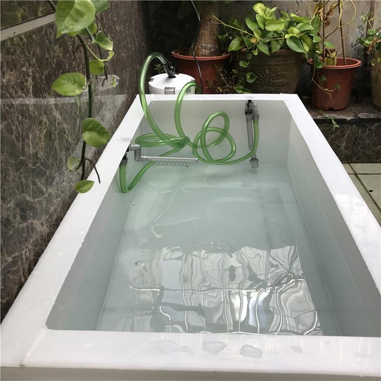 客厅阳台家用1米大型鱼缸龟缸加过滤器水箱金鱼锦鲤池图片