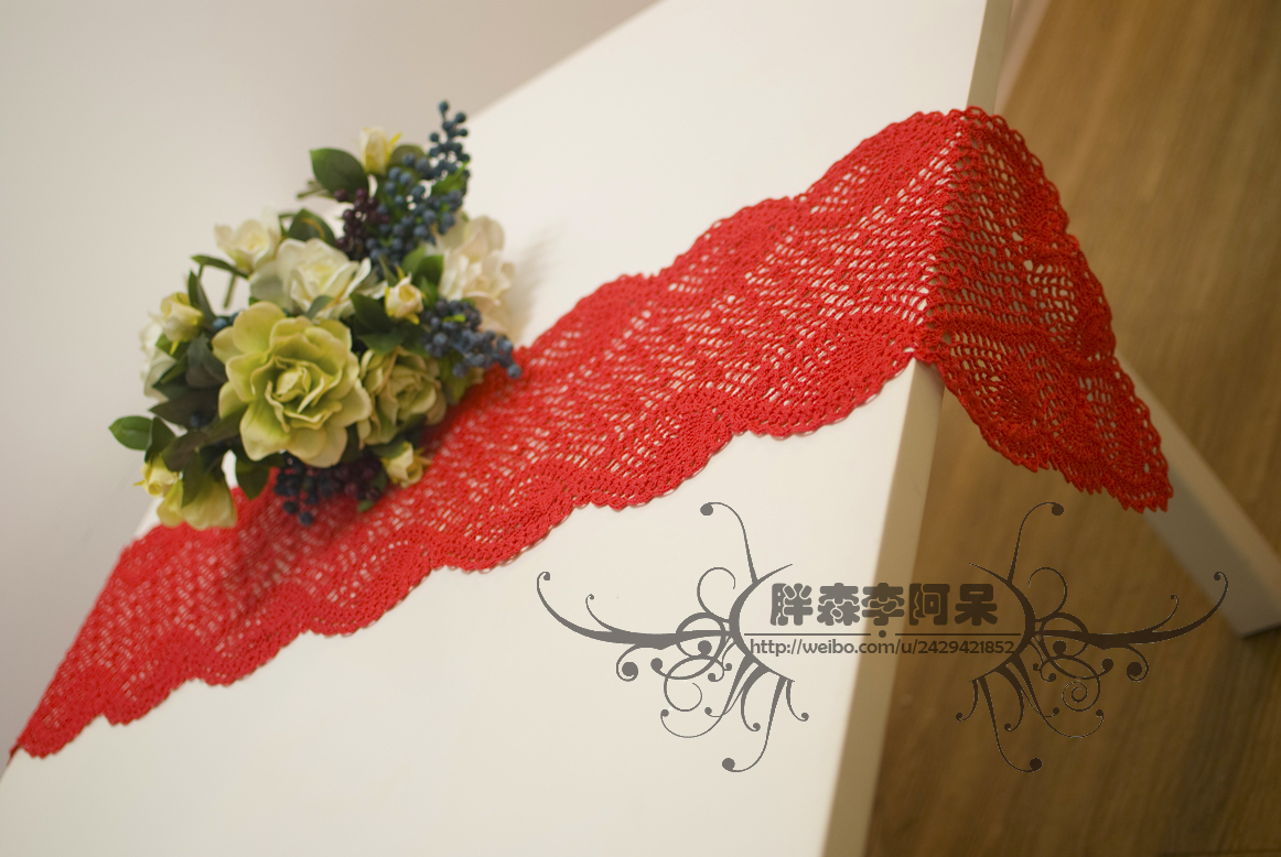 crochet lace scarf and tablecloth