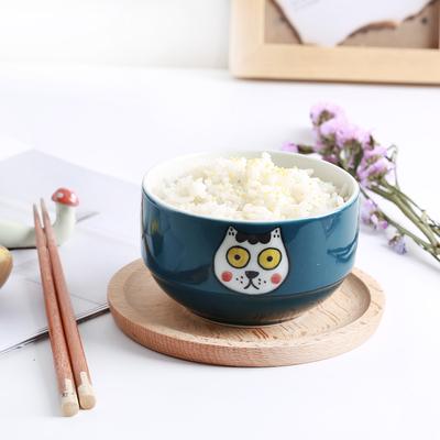 原来是泥|可爱手绘猫咪碗日式家居卡通碗餐具小清新米饭碗釉下