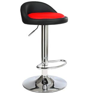 包邮收银椅子前台酒吧椅子吧台椅凳加高椅带踩脚可升降旋转椅