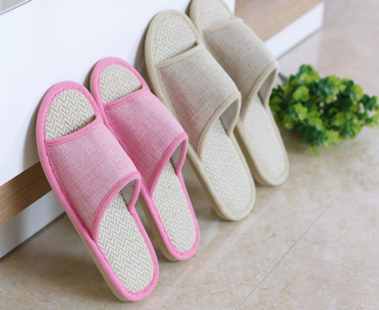 鞋亚麻拖鞋情侣凉拖鞋地板特价春夏季家居家室内防滑耐磨棉拖