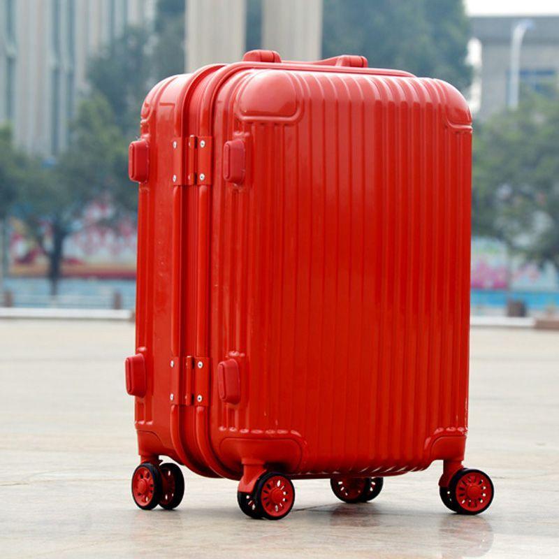 婚礼陪嫁箱子皮箱包密码箱大红色万向轮拉杆箱结婚行李箱婚庆新娘