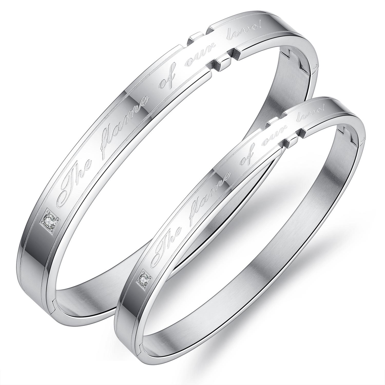 生一对男女手链刻字定制闺蜜手环情侣手镯饰品韩国装饰银色纯银学