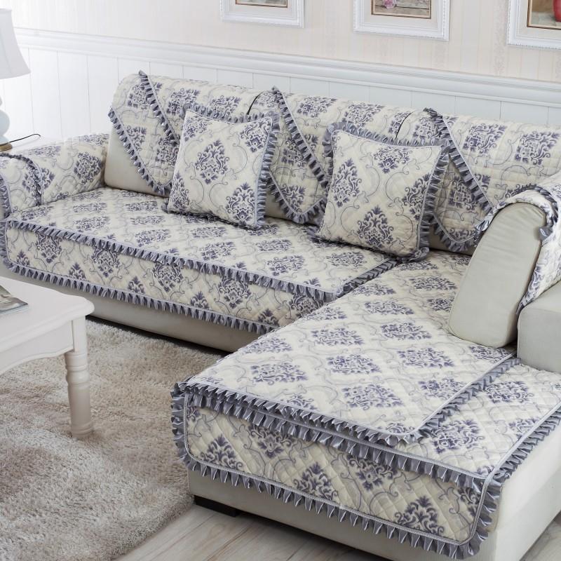 全沙发套全包套系型盖清新夏季贵尚单人朴素欧式卡通靠背木紧