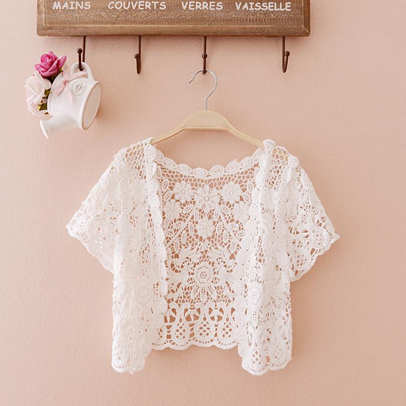 披肩小外套夏季短款镂空蕾丝开衫女装薄款防晒衣雪纺衫外搭空调衫
