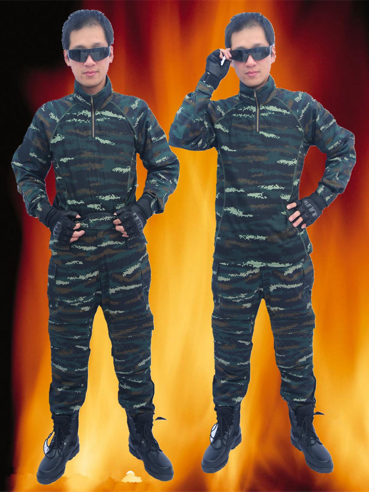 正品消防夏季冬季虎斑豹纹迷彩服作训服野战装备服
