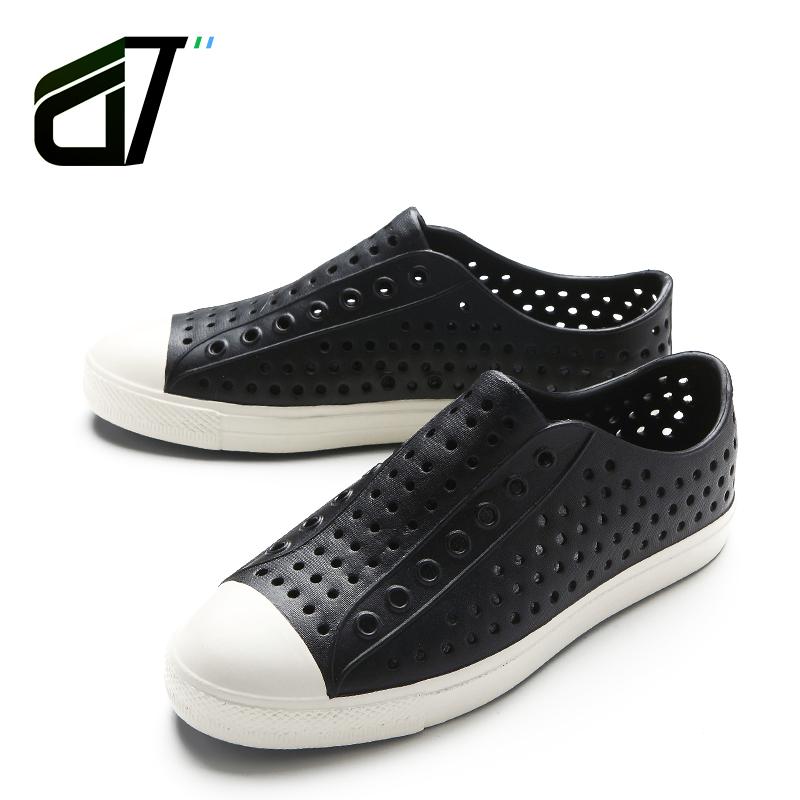 韩版洞洞鞋男沙滩鞋natives潮流休闲凉鞋平底透气情侣凉鞋夏凉鞋