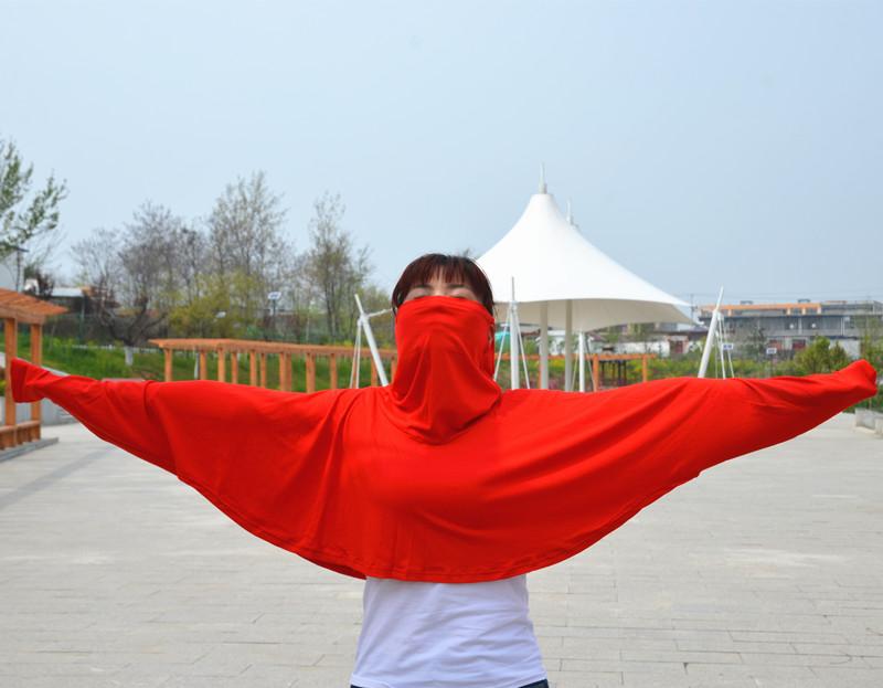 开车防晒一体护脸护颈口罩披肩夏季遮阳紫外线骑车学车莫代尔