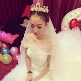 特价复古欧美金色巴洛克新娘头饰王冠结婚大皇冠发饰婚纱饰品包邮