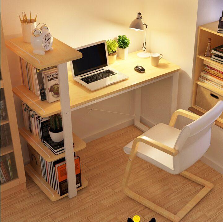 实木宜家简约小书桌书柜书架组合简易家用儿童学习桌
