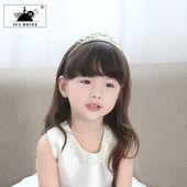 韩版女童儿童发饰品女孩公主水钻皇冠盘发插梳发夹头饰品花童皇冠