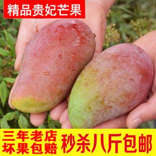 广西芒果贵妃芒红金龙新鲜水果包邮8斤装非小台农攀枝花凯特芒