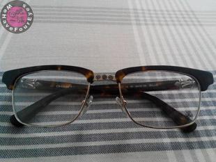 克罗心眼镜架 板材半框 眉毛框 复古眼镜架 近视镜框
