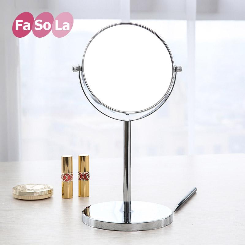 化妆镜台式公主镜欧式高清圆形双面镜子宜家简约超台