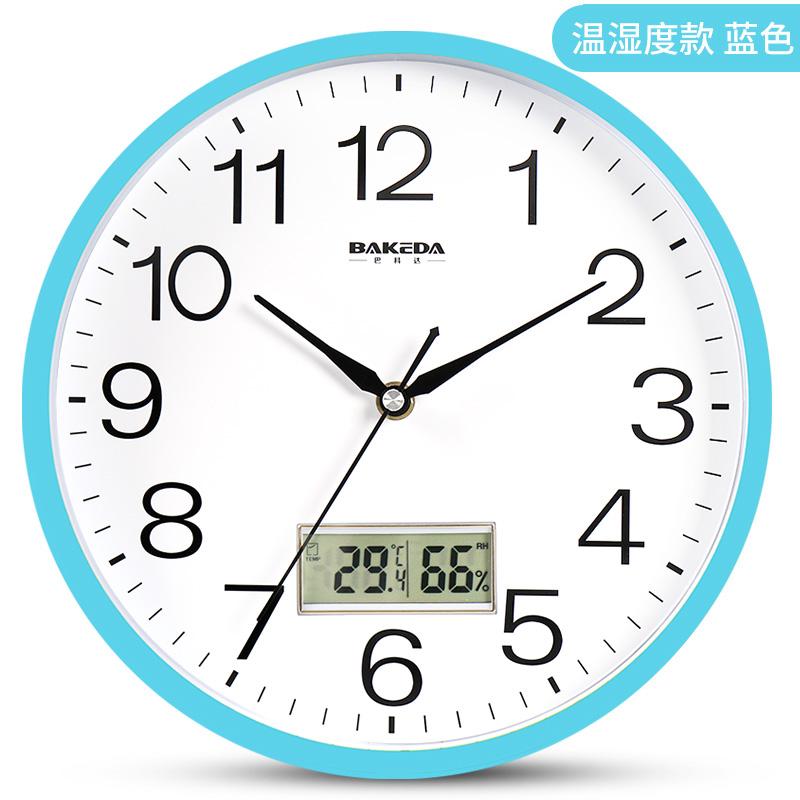 静音挂钟客厅卧室办公钟表万年历石英钟挂表创意时尚简约现代时钟