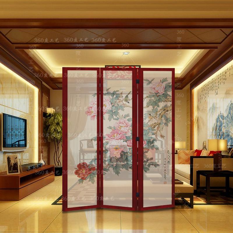 中式屏风实木折屏隔断定制客厅办公餐厅酒店茶楼屏风