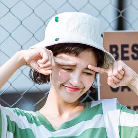 渔夫帽子男女夏天日式文艺仙人掌旅游盆帽出游户外太阳帽遮阳帽潮