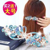 天天特价韩国发夹马尾夹大号弹簧夹百搭淑女简约水钻横夹饰品头饰