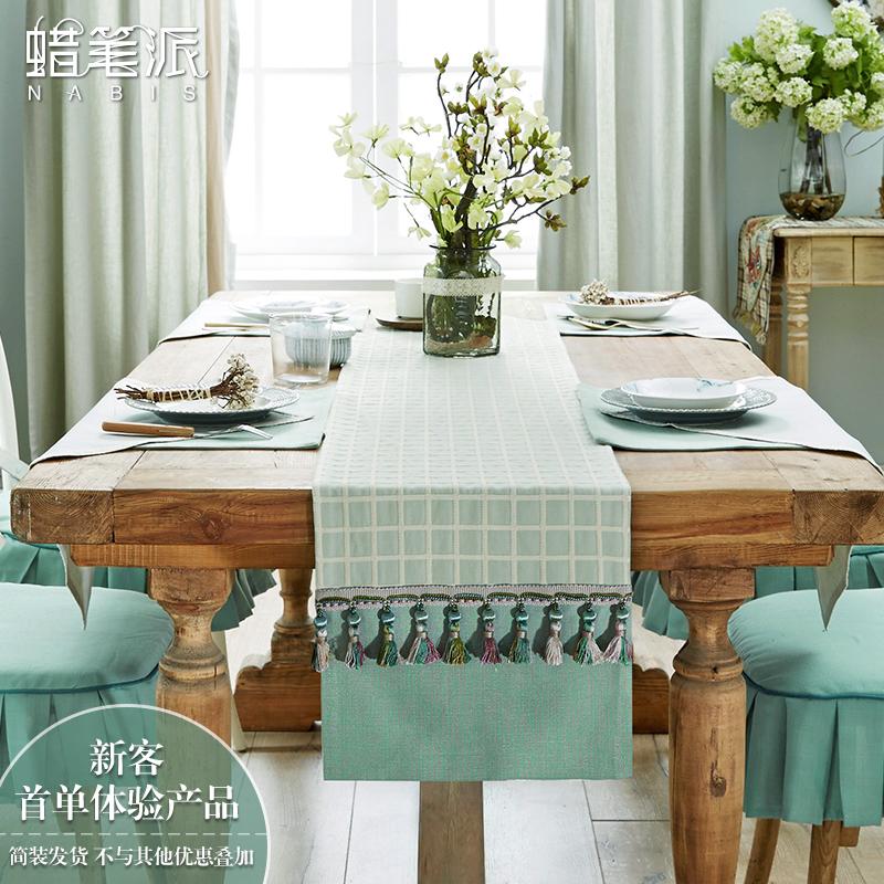 正品打折蜡笔派桌旗美式餐桌布艺套装欧式中式田园垫