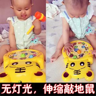 儿童打地鼠玩具幼儿益智大号宝宝音乐敲击游戏机男女孩0-1-2-3岁6