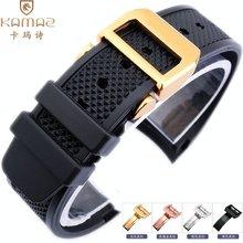 橡胶万国适配硅胶手表带iwc葡萄牙系列机械表男士配件22mm弧形