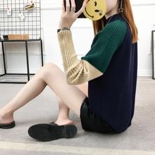 毛衣女2017秋装新款韩版宽松高领套头加厚粗毛线女装针织衫打底冬