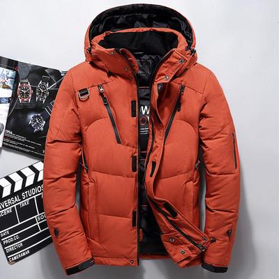 2017冬装新款羽绒服男短款青年韩版修身保暖加厚户外羽绒服白鸭绒