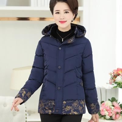 媽媽裝棉服冬裝中年女裝棉衣短款中老年人棉襖加厚外套50-60-70歲圖片