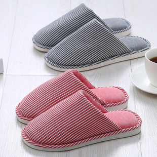 秋冬棉拖鞋女家居室内情侣防滑厚底包头月子鞋 拖鞋女冬季