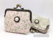 小新手工小铺原创复古甜美珍珠口金包夹子包零钱包硬币包