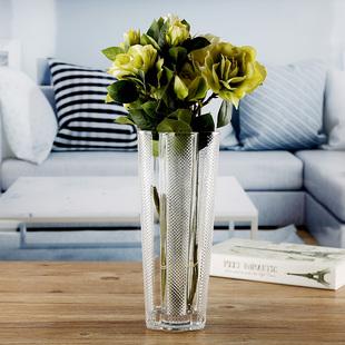 花瓶欧式摆件玻璃透明富贵竹水培客厅漫天星百合落地大号插花花器