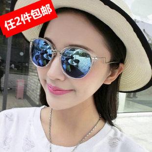 新款韩版复古男女同款百搭太阳眼镜墨镜挡光镜防紫外线19.9包邮