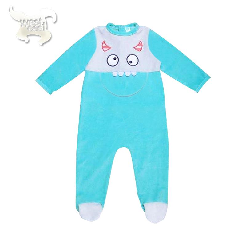 衣哈衣爬爬服婴儿新生儿宝宝天鹅绒连体睡衣