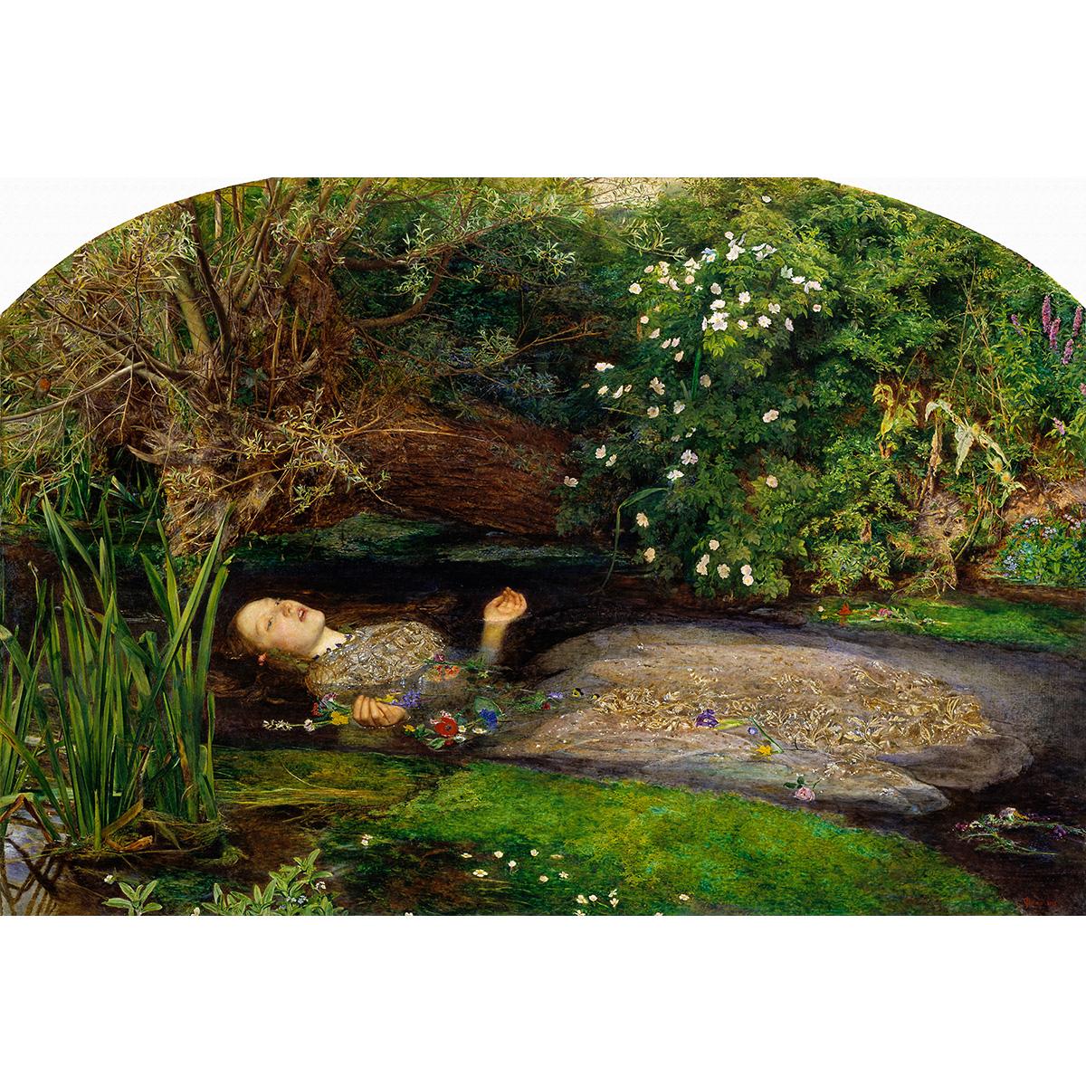 奥菲莉娅 水中的奥菲莉娅 油画 人物风景油画 居家室内装饰100-68
