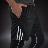 羽毛球三分速干弹力篮球裤 跑步健身运动短裤 夏季男沙滩休闲短裤