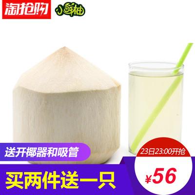【小鲜柚】泰国椰青4只赠送开椰器椰子汁水进口新鲜水果多地包邮