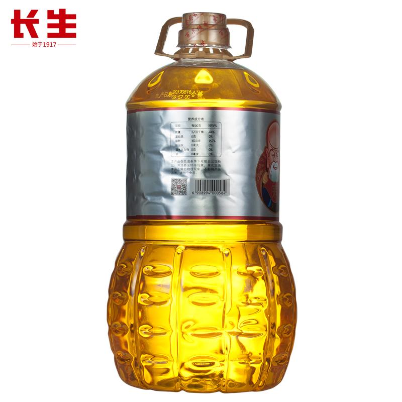 长生破壁特香花生油5L赠1L物理压榨一级山东纯正粮油植物油食用油