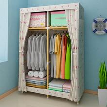 单人简易衣柜木质布衣柜实木组装收纳宿舍布艺衣橱简约现代经济型