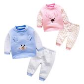 男女宝宝套装春秋婴儿保暖两件套春装睡衣新生儿日系居家套装