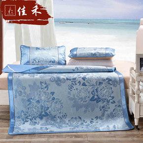 佳禾冰丝席三件套可折叠凉席1.8m床双人席1.5米单人床空调凉席
