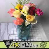 饰花瓶每周一花同城速递全国次日达 鲜花包月一周一花办公室家庭装