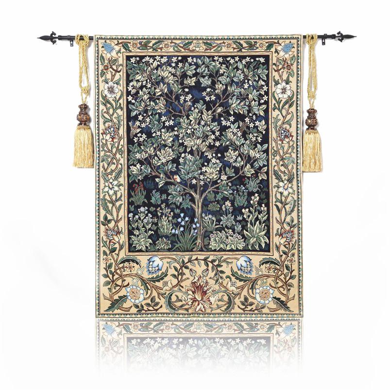欧式挂毯 壁毯画 客厅玄关电表箱餐厅 布艺软装 世界名画-生命树