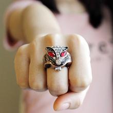 迷你韩版狐狸戒指表女学生翻盖小表个姓时尚戒指手表男夜光指环表