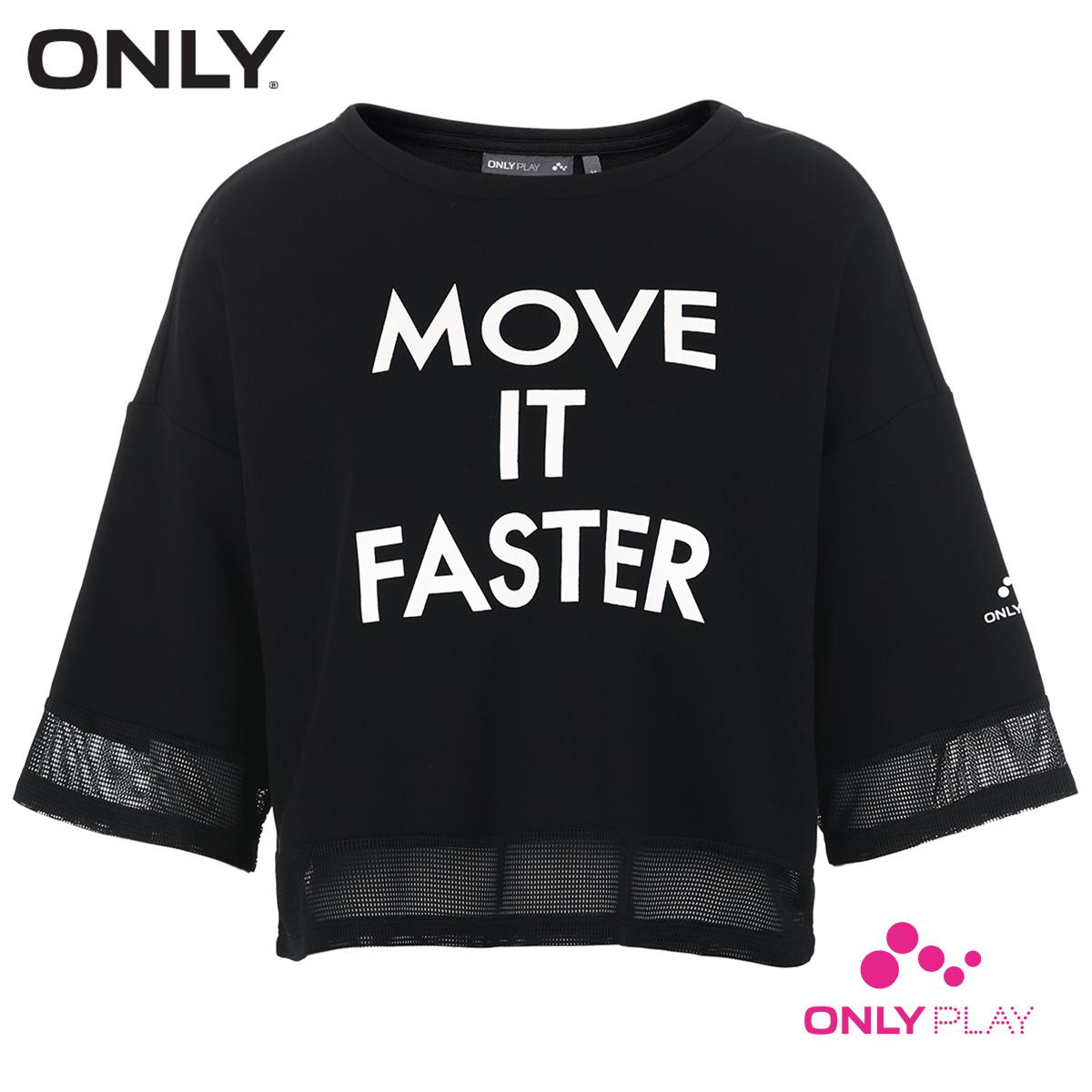 ONLY PLAY运动系列字母印花宽松运动T恤女 11719S536