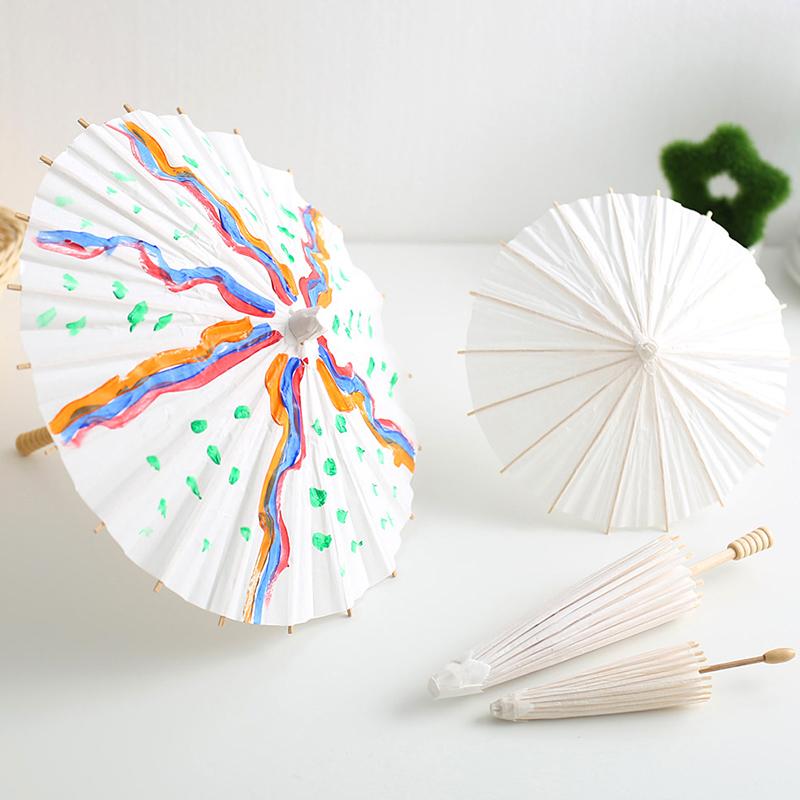创意手工diy油纸伞 幼儿园儿童手绘伞空白涂鸦绘画伞玩具工艺伞图片