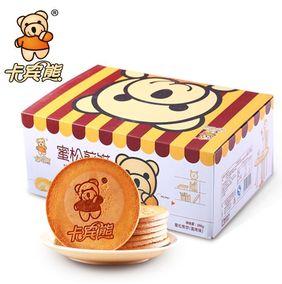 卡宾熊鸡蛋煎饼蛋烤味蜜松圆饼 酥脆蜜松饼干560g多省包邮