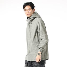 春季新品复古军事风M51中长款燕尾连帽休闲男士夹克衫男青年外套