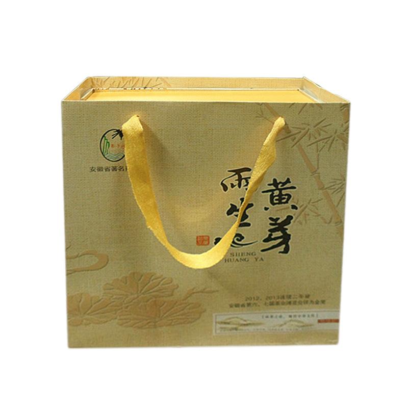 茶叶 400g 新茶霍山黄芽原产地雨生黄芽黄茶特级茶礼盒装 2015