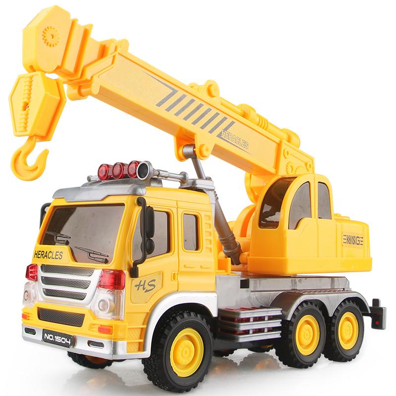 宝宝玩具惯性车3D灯光音乐翻斗车吊车清洁车挖掘机钩机工程车模型